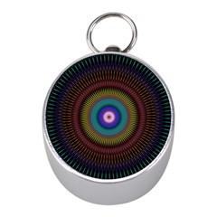 Artskop Kaleidoscope Pattern Ornamen Mantra Mini Silver Compasses