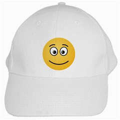 Smiling Face with Open Eyes White Cap