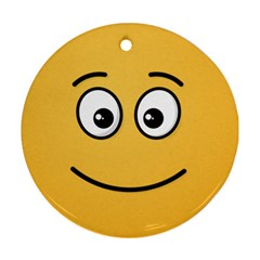 Smiling Face with Open Eyes Ornament (Round)