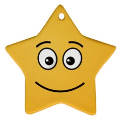Smiling Face With Open Eyes Ornament (star)