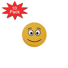 Smiling Face with Open Eyes 1  Mini Buttons (10 pack)
