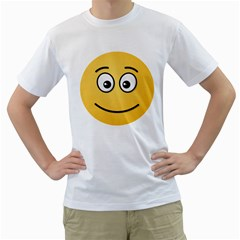 Smiling Face with Open Eyes Men s T-Shirt (White) (Two Sided)