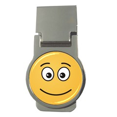 Smiling Face with Open Eyes Money Clips (Round)