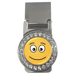 Smiling Face with Open Eyes Money Clips (CZ)