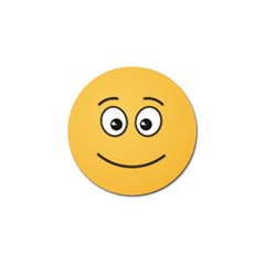 Smiling Face with Open Eyes Golf Ball Marker