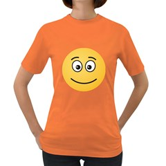 Smiling Face with Open Eyes Women s Dark T-Shirt