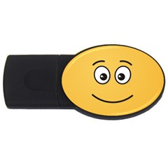 Smiling Face with Open Eyes USB Flash Drive Oval (4 GB)