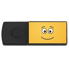 Smiling Face with Open Eyes USB Flash Drive Rectangular (4 GB)