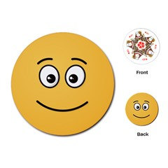 Smiling Face with Open Eyes Playing Cards (Round)