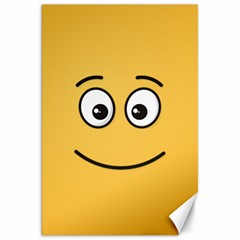 Smiling Face with Open Eyes Canvas 20  x 30