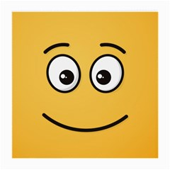 Smiling Face with Open Eyes Medium Glasses Cloth (2-Side)