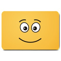 Smiling Face With Open Eyes Large Doormat