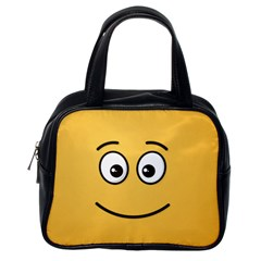 Smiling Face With Open Eyes Classic Handbags (one Side)