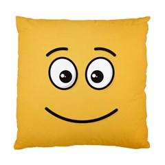 Smiling Face with Open Eyes Standard Cushion Case (Two Sides)