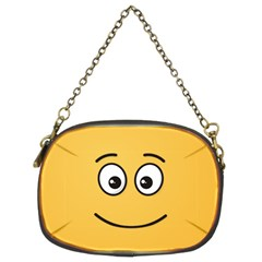 Smiling Face with Open Eyes Chain Purses (Two Sides)