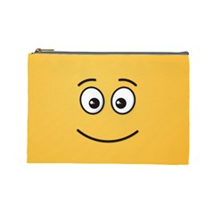 Smiling Face with Open Eyes Cosmetic Bag (Large)