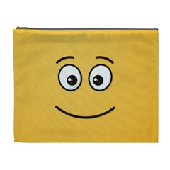 Smiling Face with Open Eyes Cosmetic Bag (XL)