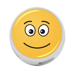 Smiling Face with Open Eyes 4-Port USB Hub (Two Sides)