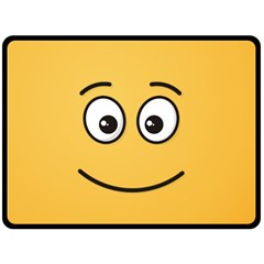 Smiling Face with Open Eyes Fleece Blanket (Large)