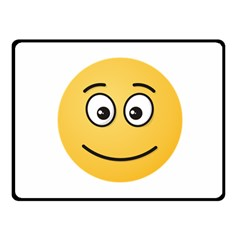 Smiling Face with Open Eyes Fleece Blanket (Small)