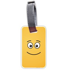 Smiling Face with Open Eyes Luggage Tags (One Side)