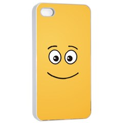 Smiling Face with Open Eyes Apple iPhone 4/4s Seamless Case (White)