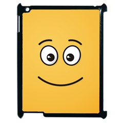 Smiling Face with Open Eyes Apple iPad 2 Case (Black)