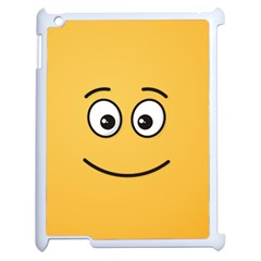 Smiling Face with Open Eyes Apple iPad 2 Case (White)