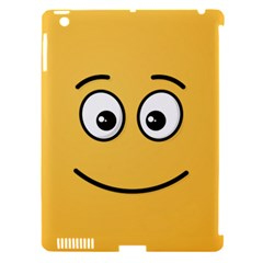 Smiling Face with Open Eyes Apple iPad 3/4 Hardshell Case (Compatible with Smart Cover)