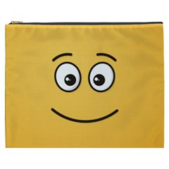 Smiling Face with Open Eyes Cosmetic Bag (XXXL)