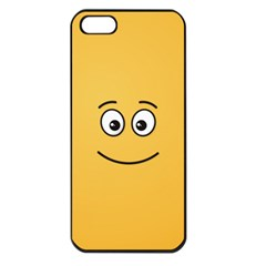 Smiling Face with Open Eyes Apple iPhone 5 Seamless Case (Black)