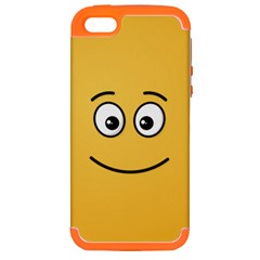 Smiling Face with Open Eyes Apple iPhone 5 Hardshell Case (PC+Silicone)