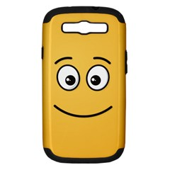 Smiling Face with Open Eyes Samsung Galaxy S III Hardshell Case (PC+Silicone)