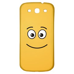 Smiling Face with Open Eyes Samsung Galaxy S3 S III Classic Hardshell Back Case
