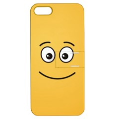 Smiling Face with Open Eyes Apple iPhone 5 Hardshell Case with Stand