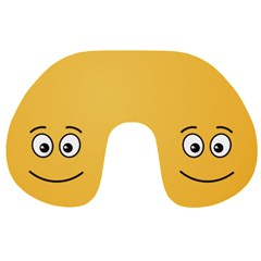 Smiling Face with Open Eyes Travel Neck Pillows