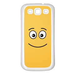 Smiling Face with Open Eyes Samsung Galaxy S3 Back Case (White)