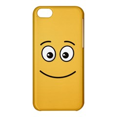 Smiling Face With Open Eyes Apple Iphone 5c Hardshell Case