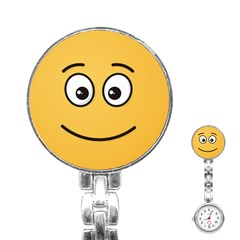 Smiling Face with Open Eyes Stainless Steel Nurses Watch