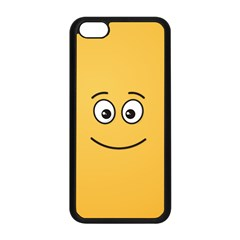 Smiling Face With Open Eyes Apple Iphone 5c Seamless Case (black)