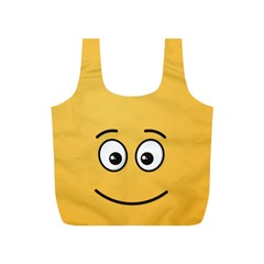 Smiling Face with Open Eyes Full Print Recycle Bags (S)