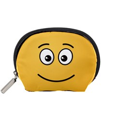Smiling Face With Open Eyes Accessory Pouches (small)
