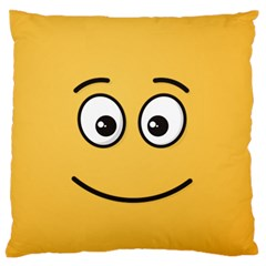 Smiling Face with Open Eyes Standard Flano Cushion Case (One Side)