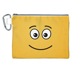Smiling Face with Open Eyes Canvas Cosmetic Bag (XXL)