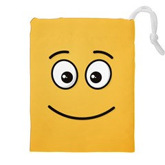 Smiling Face with Open Eyes Drawstring Pouches (XXL)