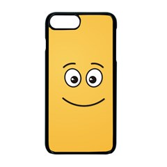 Smiling Face With Open Eyes Apple Iphone 7 Plus Seamless Case (black)