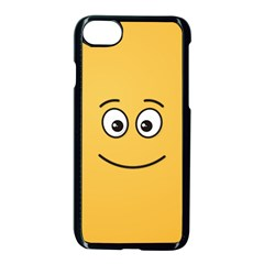 Smiling Face With Open Eyes Apple Iphone 7 Seamless Case (black)