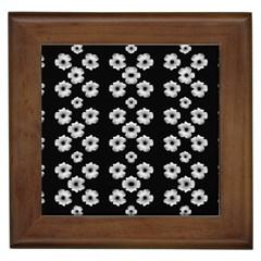 Dark Floral Framed Tiles