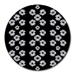Dark Floral Round Mousepads
