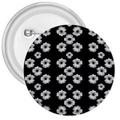 Dark Floral 3  Buttons